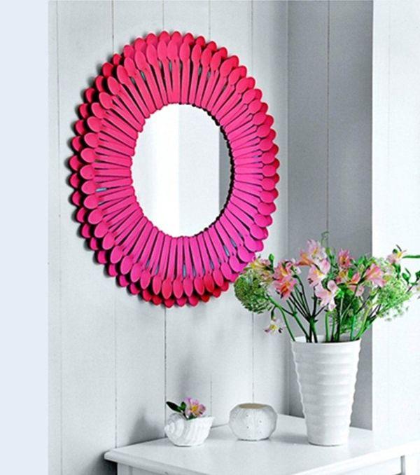 Marcos de espejo a todo color for Marcos decorados para espejos