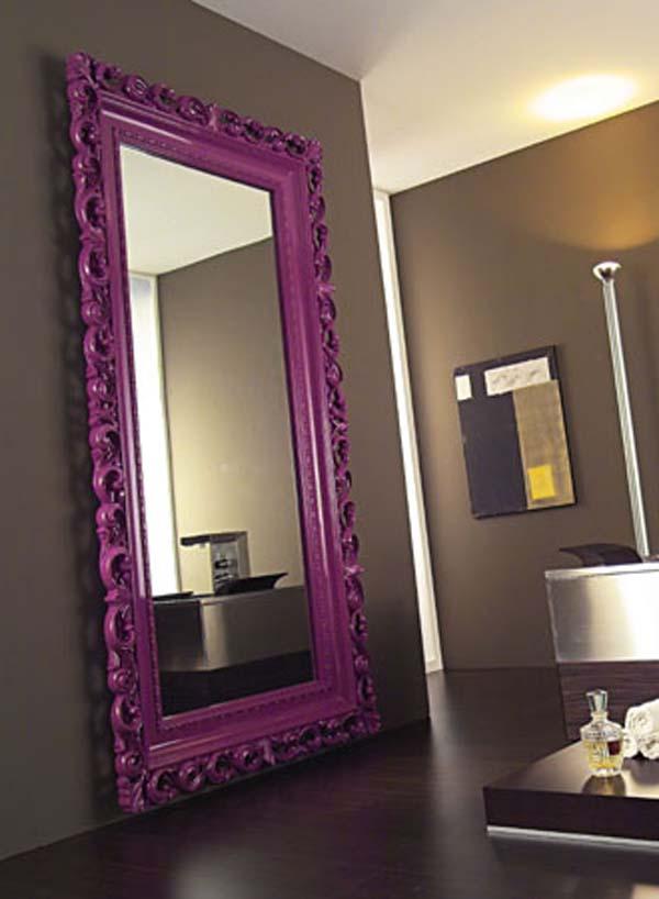 Marcos de espejo a todo color for Marcos para espejos grandes modernos