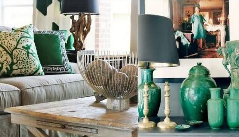 Salones verde esmeralda 01 gu a para decorar for Imagenes de salones decorados