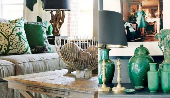 livings en verde esmeralda 1 - Imagenes De Salones Decorados