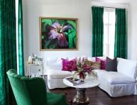 imagen Salones decorados en verde esmeralda