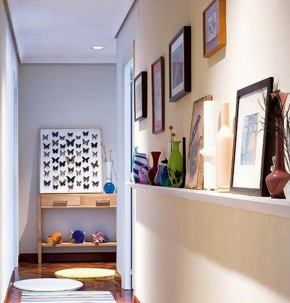 C mo aprovechar los pasillos de una vivienda - Decoracion de paredes de pasillos ...
