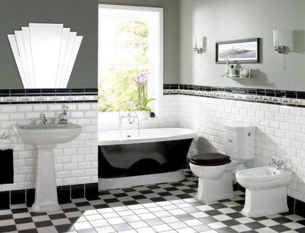 40 Wonderful Pictures And Ideas Of 1920s Bathroom Tile Designs: Baños Con Inspiración Art Decó