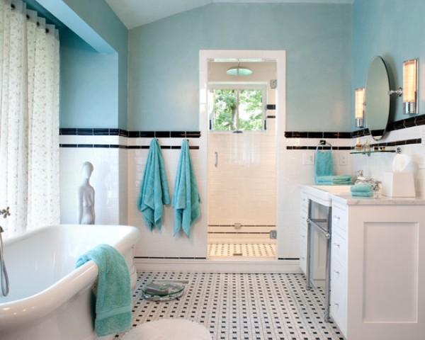 Baños Estilo Art Deco:Un estilo moderno donde tenga cabida una pieza más clásica como una