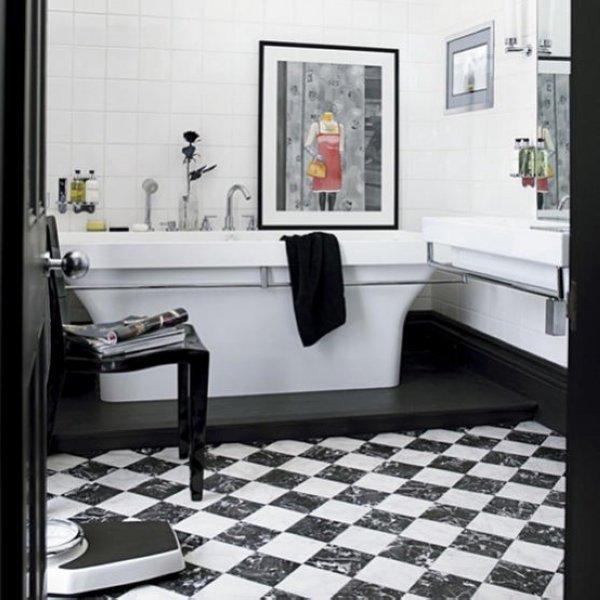 Baños Con Inspiración Art Decó