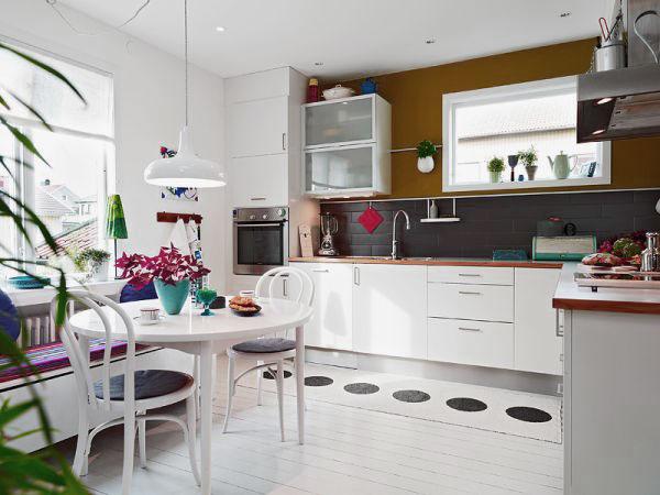 Cocinas n rdicas con notas de color - Cocinas nordicas ...