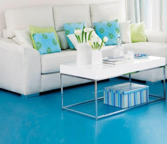 Coloridos suelos para la vivienda for Color paredes para suelo gris