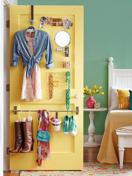 Ideas de almacenamiento tras las puertas