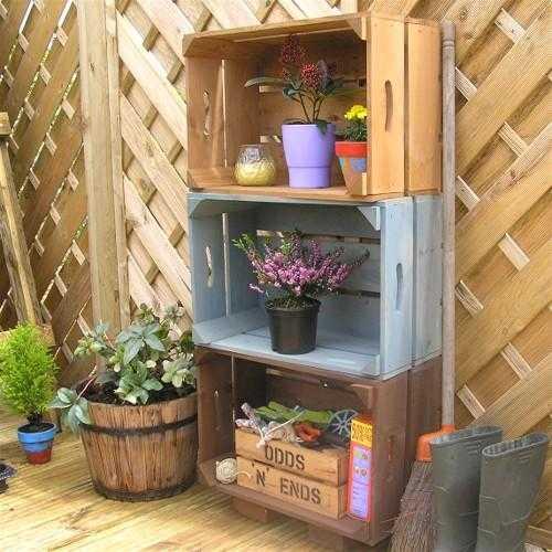 Ideas para decorar con cajas de madera - Decorar terrazas reciclando ...