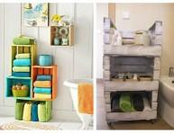 imagen Ideas para decorar con cajas de madera pintadas