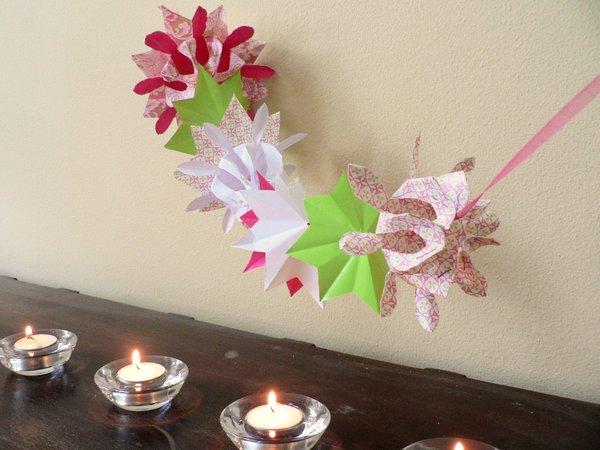 Decoración con origami 1