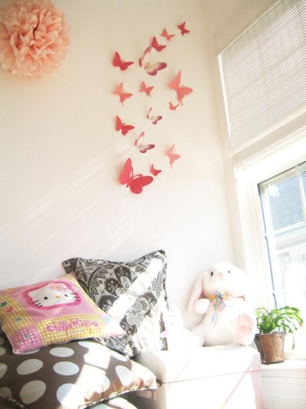 Figuras de origami para decorar rincones for Schmetterling deko kinderzimmer