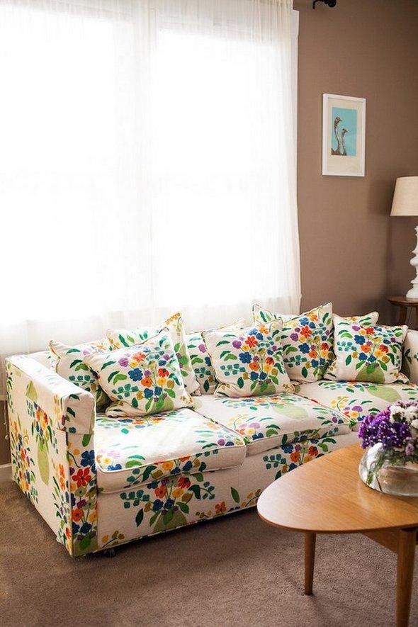 Sof 225 S Con Estampado Floral Para El Living
