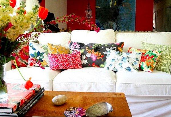 Sofás de estampado floral 6