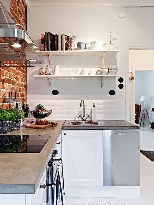 10 peque as cocinas con grandes ideas for Revestimientos para cocinas modernas argentina