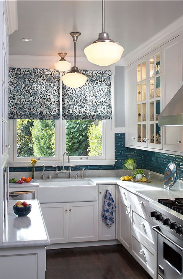 10 peque as cocinas con grandes ideas for Mesetas para cocinas pequenas