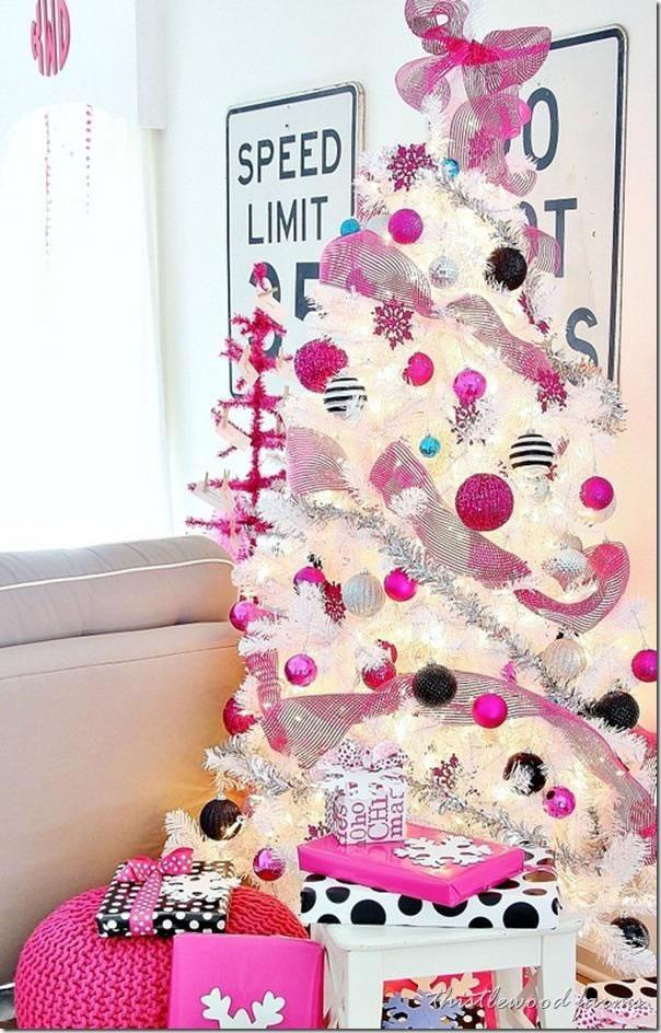 Una navidad en color rosa - Arboles de navidad rosa ...