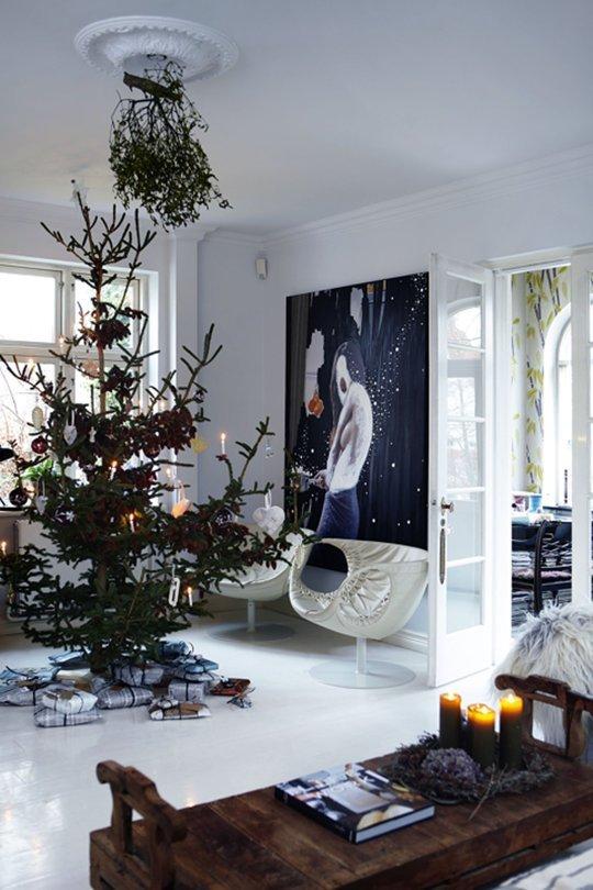 4 casas danesas decoradas para la navidad for Decoracion danesa