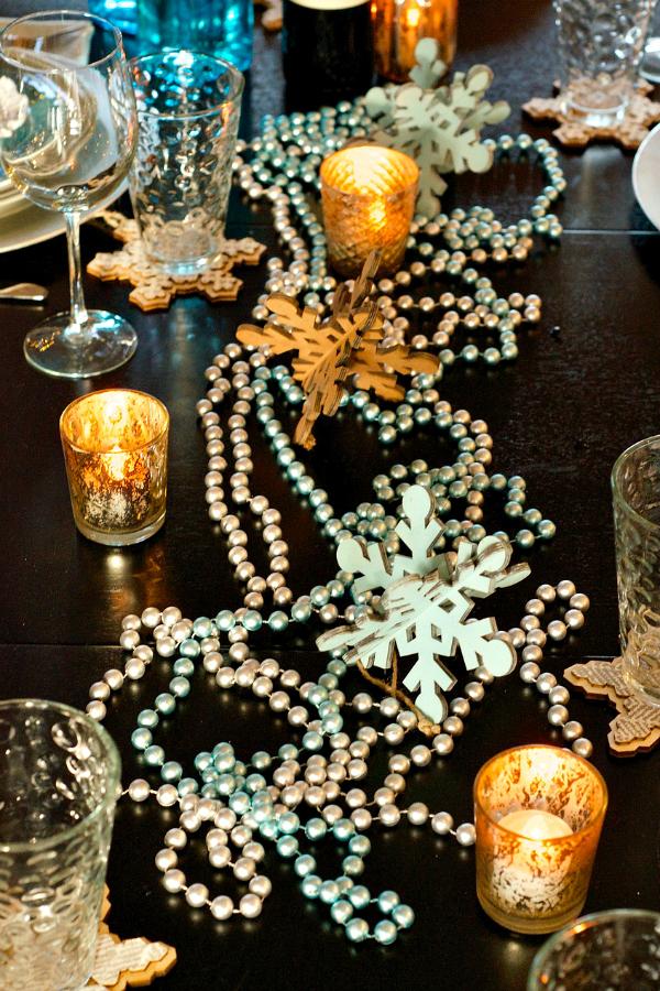 Copos de nieve para tu mesa de navidad - Mesas de navidad originales ...
