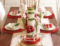 imagen Rojo y verde para la mesa de Navidad