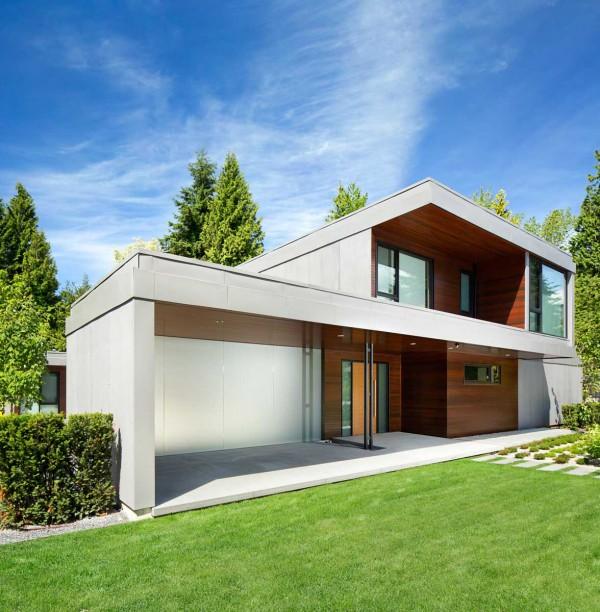 Una casa contempor nea en canad for Casas modernas medianas