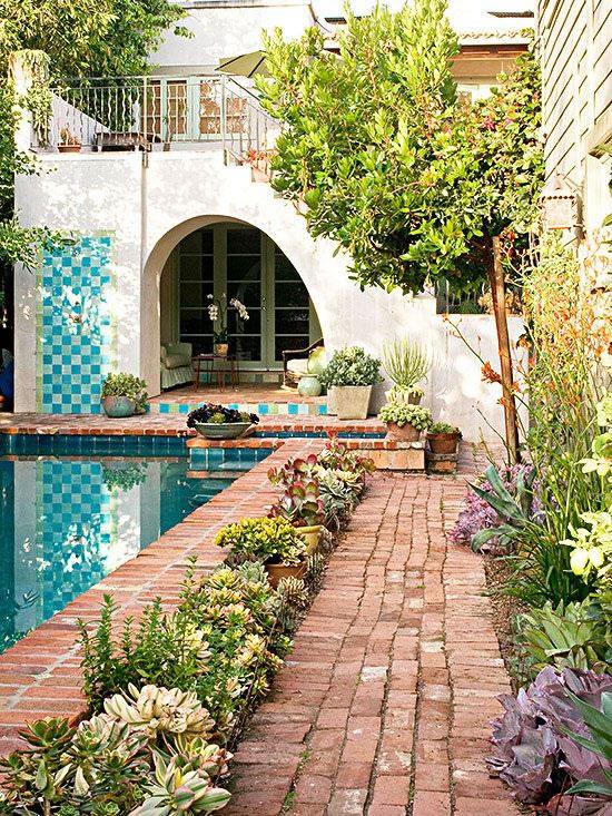 Patios y terrazas de estilo mediterr neo - Jardines con estilo ...