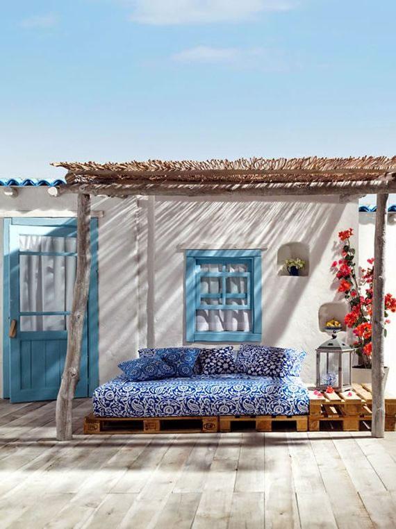 Patios y terrazas de estilo mediterr neo for Terraza de arte y decoracion