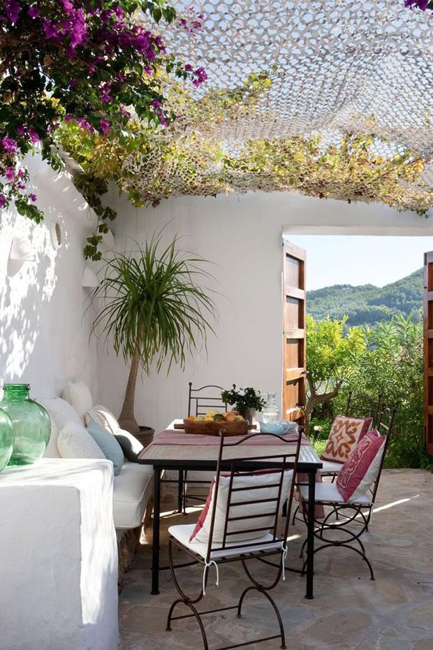 Patios y terrazas de estilo mediterr neo - Decorar porche pequeno ...