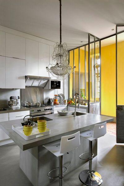 Separa ambientes con mamparas y paneles acristalados for Separar ambientes