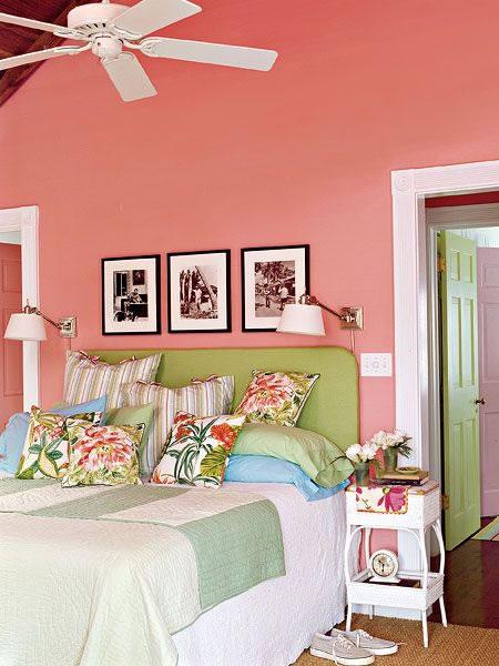 Ideas para decorar con el color coral - Paletas de colores para pintar paredes ...