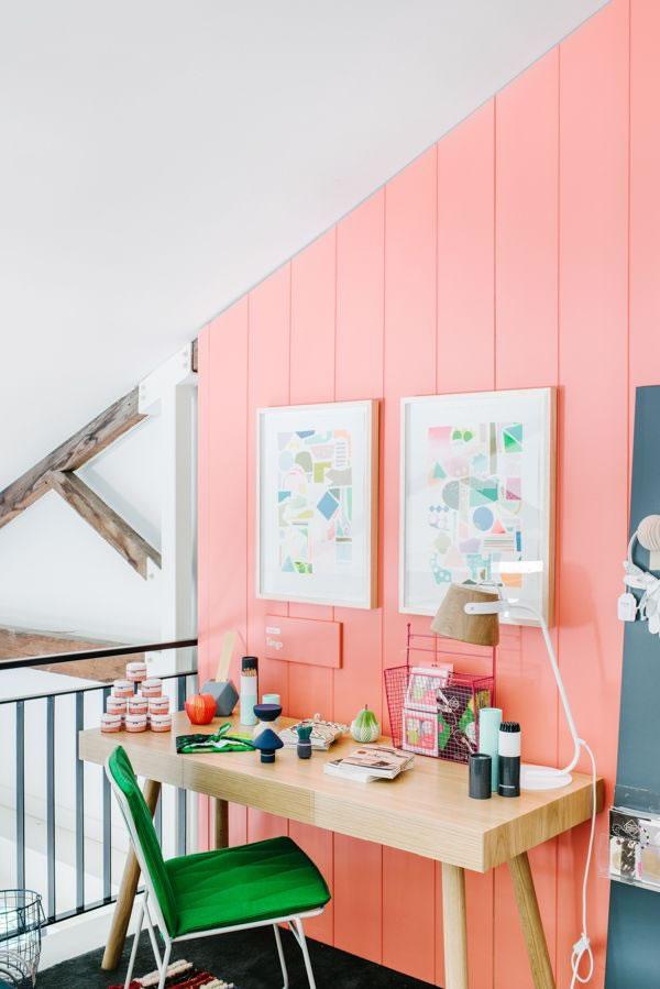 Ideas para decorar con el color coral - Color salmon en paredes ...