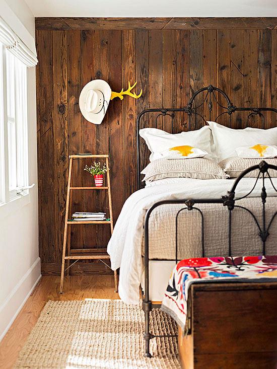 Combinar elementos vintage y modernos en la decoraci n - Decoracion dormitorio rustico ...