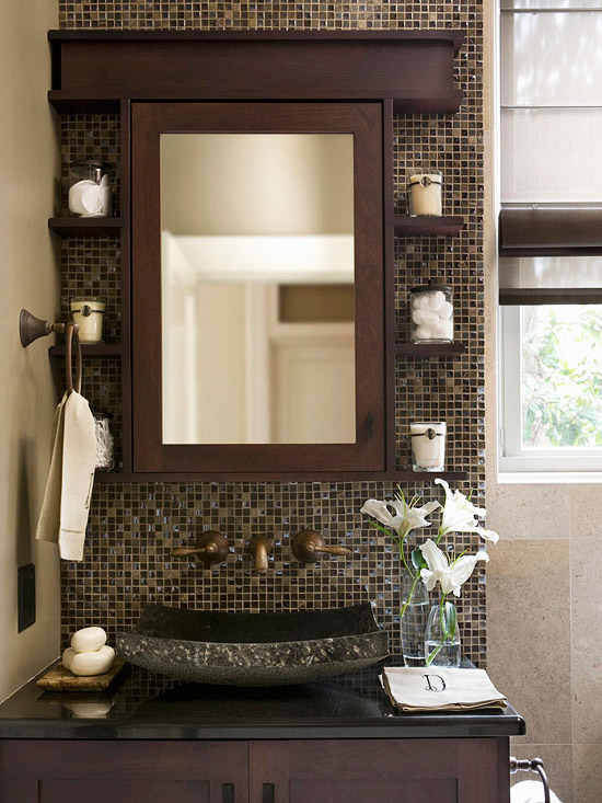 Baños Elegantes Pequenos:Small Bathroom Ideas