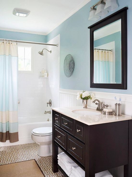 Baño Pequeno Elegante:Guest Bathroom Idea