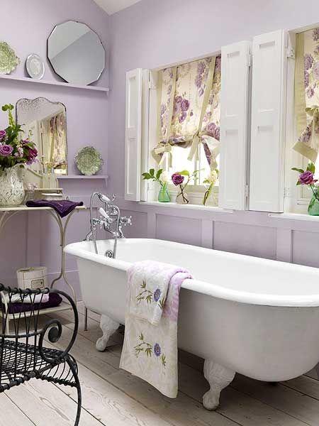 Ideas para decorar con el color lila for Bathroom ideas violet