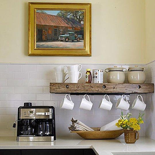 Ideas de estilo para estanter as Ideas para colgar trapos de cocina