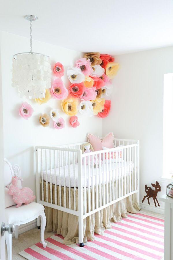 An mate a decorar con flores de papel - Papel para habitacion de bebe ...