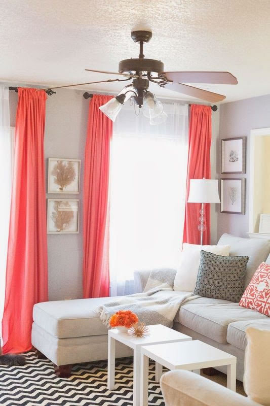 drapes living room decora tu hogar con el color coral 10799