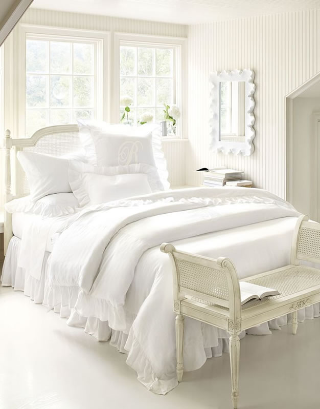 10 habitaciones en color blanco - Decoracion de dormitorios en blanco ...