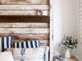 imagen Cabeceros con maderas recicladas