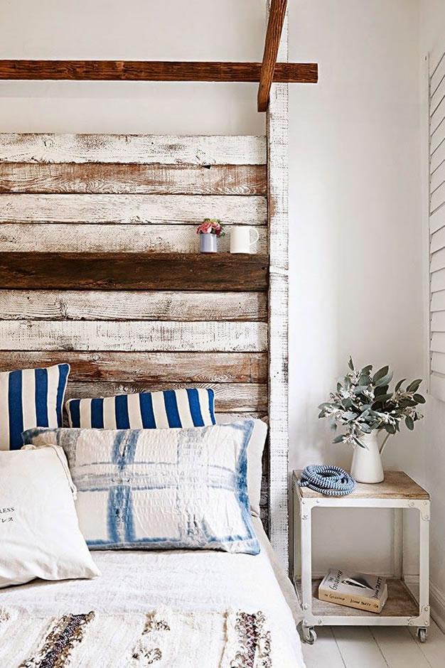 Ideas de cabeceros con maderas recicladas - Cabeceros de madera rusticos ...