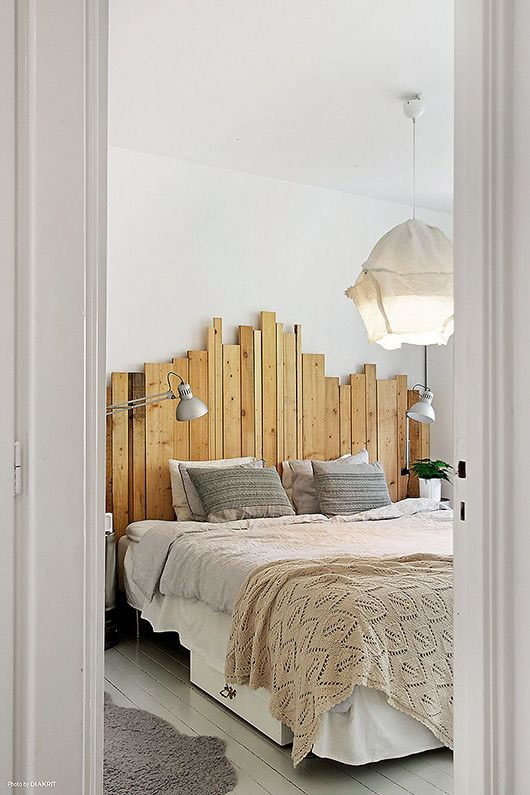 Ideas de cabeceros con maderas recicladas - Cabeceros rusticos de madera ...