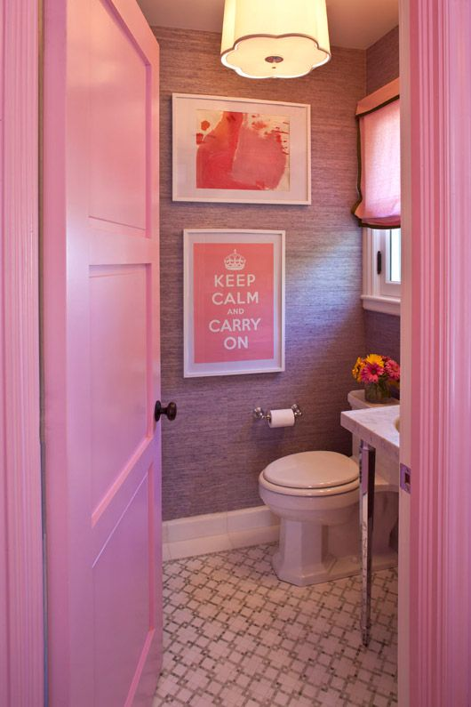 Cortinas De Baño Rosa:Cute Pink Bathroom