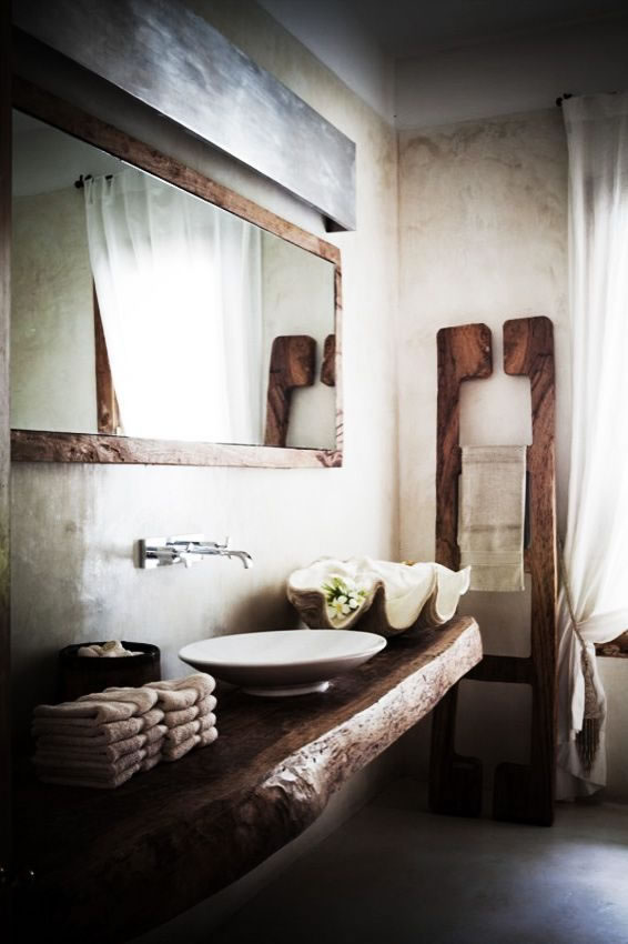 Baños Con Estilo Rustico:Great Rustic Bathroom Design