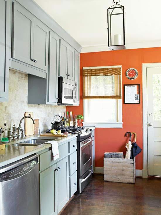 Dale vida a tu cocina con el color naranja for Cocinas naranjas y blancas