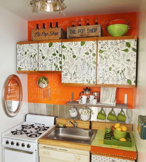 Dale vida a tu cocina con el color naranja for Paredes de cocina decoradas
