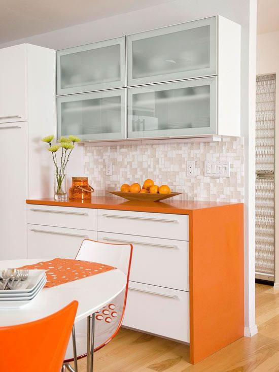 Dale vida a tu cocina con el color naranja - Cocinas color naranja ...