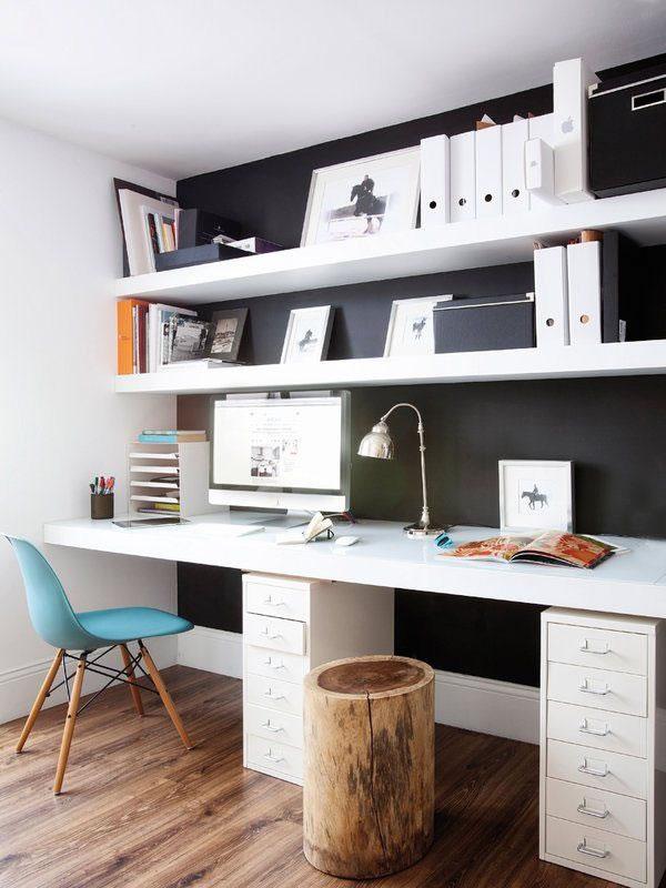 17 ideas para decorar con estanter as for Home office ideeen