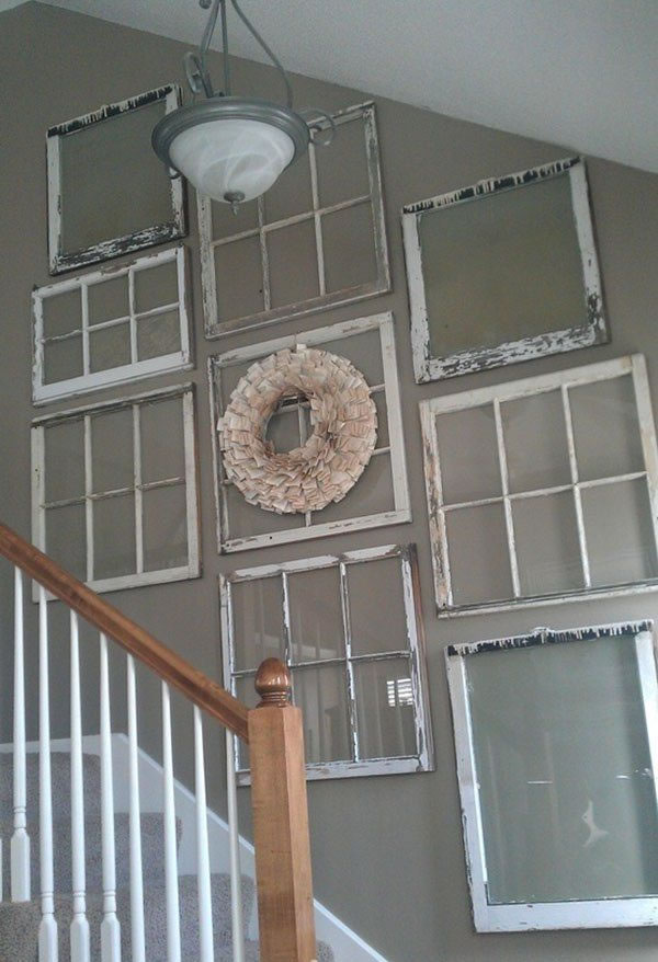 19 propuestas para decorar con ventanas viejas. Black Bedroom Furniture Sets. Home Design Ideas