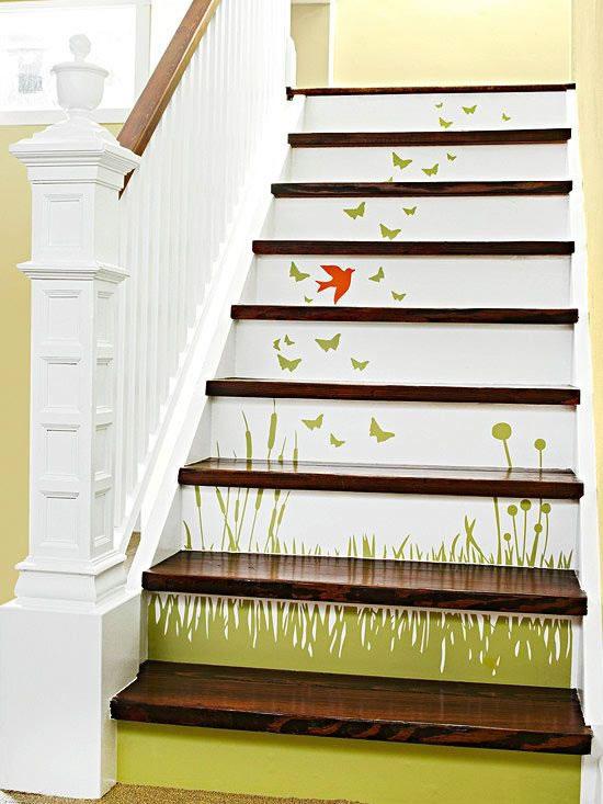 C mo decorar con estilo tu escalera - Decoracion escaleras interiores paredes ...